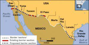 メキシコ国境地図