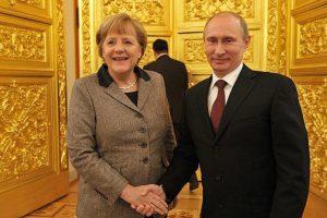 メルケル、プーチン